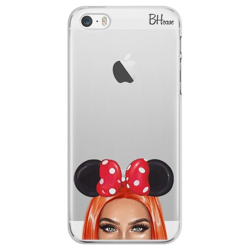 Redhead Girl With Ribbon Coque iPhone SE/5S