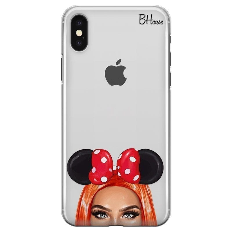 Redhead Girl With Ribbon Coque iPhone X/XS