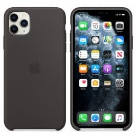 Apple Black Silicone Coque iPhone 11 Pro Max