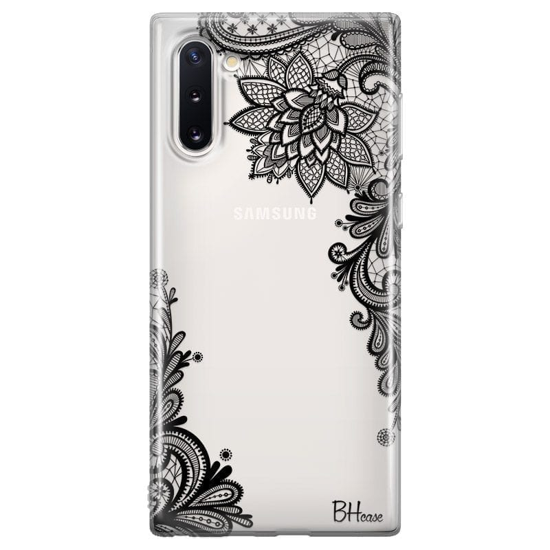 Flowers Black Coque Samsung Note 10