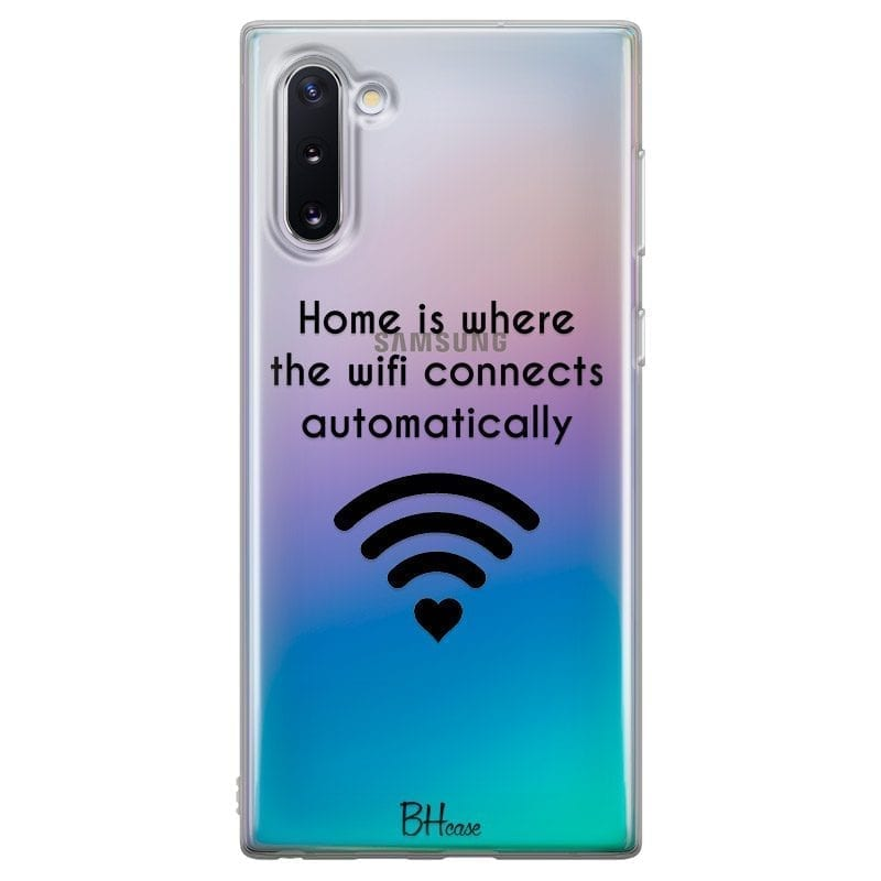 Home Is Where The Wifi Connects Automatically Coque Samsung Note 10