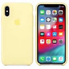 Apple Mellow Yellow Silicone Coque iPhone XS