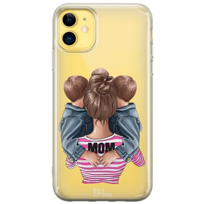 Mom Of Boy Twins Coque iPhone 11