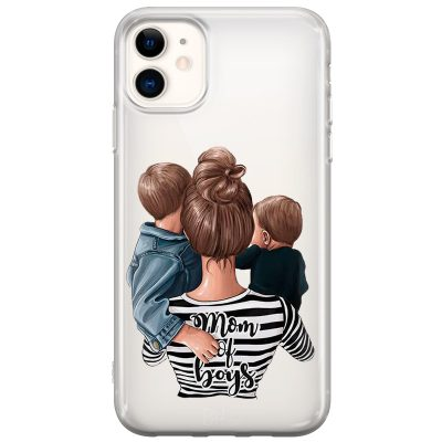 Mom of Boys Coque iPhone 11