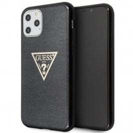 Guess Solid Glitter Black Coque iPhone 11 Pro