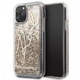 Karl Lagerfeld Glitter Signature Coque iPhone 11 Pro