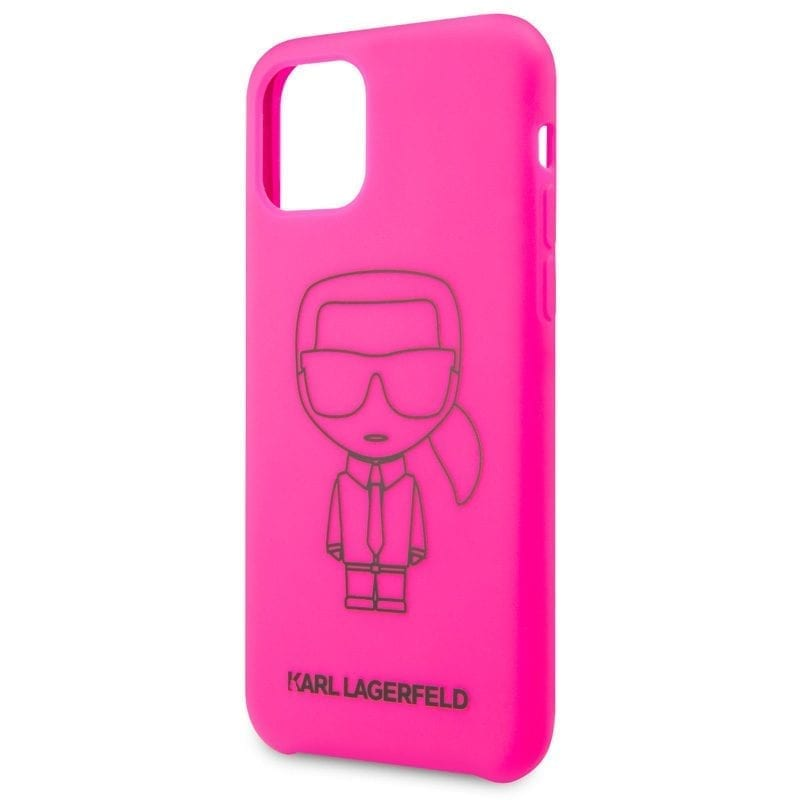 Karl Lagerfeld Silicone Black Out Pink Coque iPhone 11 Pro
