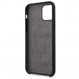 Karl Lagerfeld Silicone Pink Out Black Coque iPhone 11 Pro Max
