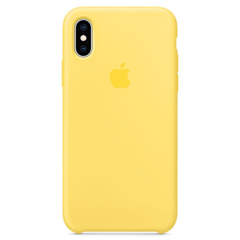 Apple Canary Yellow Silicone Coque iPhone XS