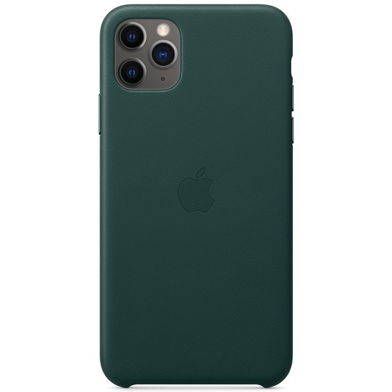 Apple Forest Green Leather Coque iPhone 11 Pro