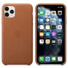 Apple Saddle Brown Leather Coque iPhone 11 Pro Max