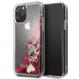 Guess Glitter Hearts Rapsberry Coque iPhone 11