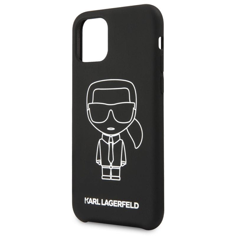 Karl Lagerfeld Silicone White Out Black Coque iPhone 11 Pro