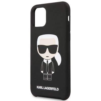 Karl Lagerfeld Iconic Full Body Silicone Black Coque iPhone 11 Pro