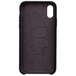 Karl Lagerfeld Iconic Full Body Silicone Black Coque iPhone X/XS
