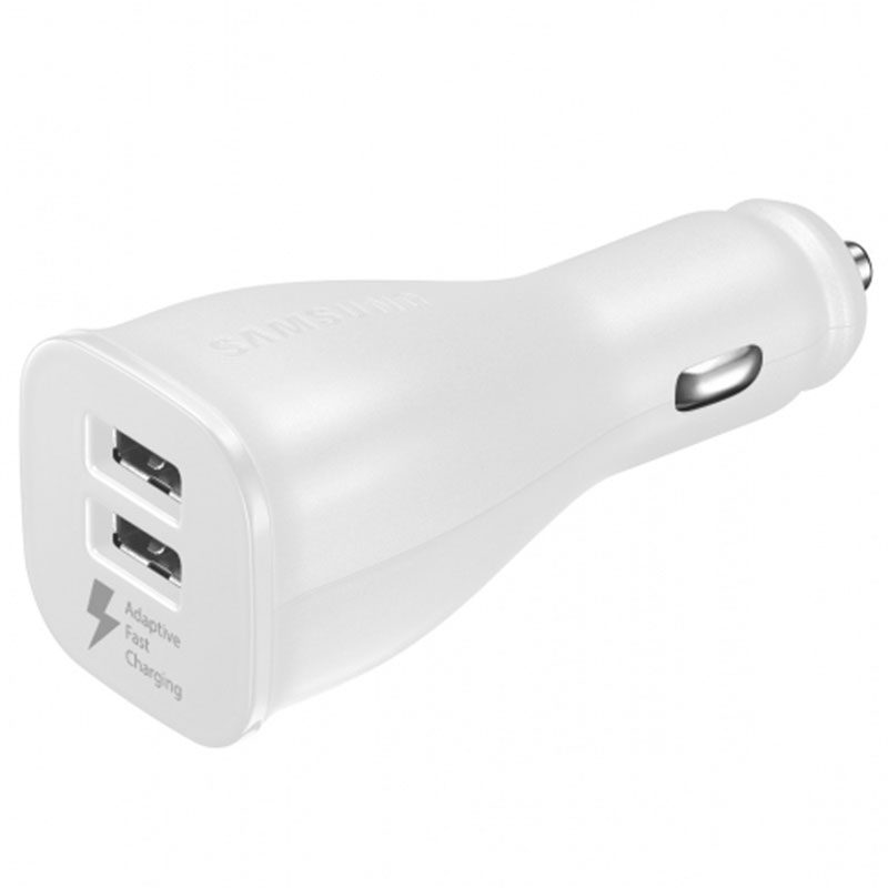 Samsung Dual Car Adapter White