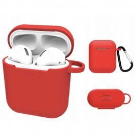 Silicone Protective Coque For Airpods Red