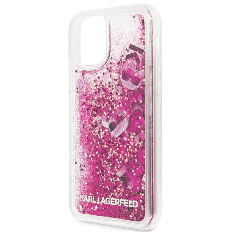 Karl Lagerfeld Floating Charms Rose Coque iPhone 11