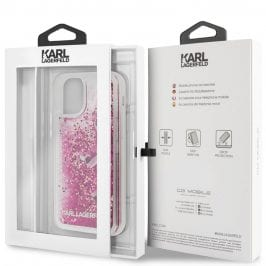 Karl Lagerfeld Floating Charms Rose Coque iPhone 11 Pro