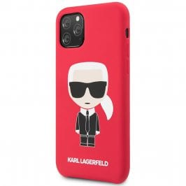 Karl Lagerfeld Iconic Full Body Silicone Red Coque iPhone 11 Pro