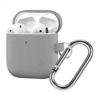 Silicone Protective Coque For Airpods Light Gray