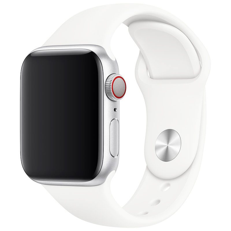 Silicone Bracelet Apple Watch 42/44mm White Large