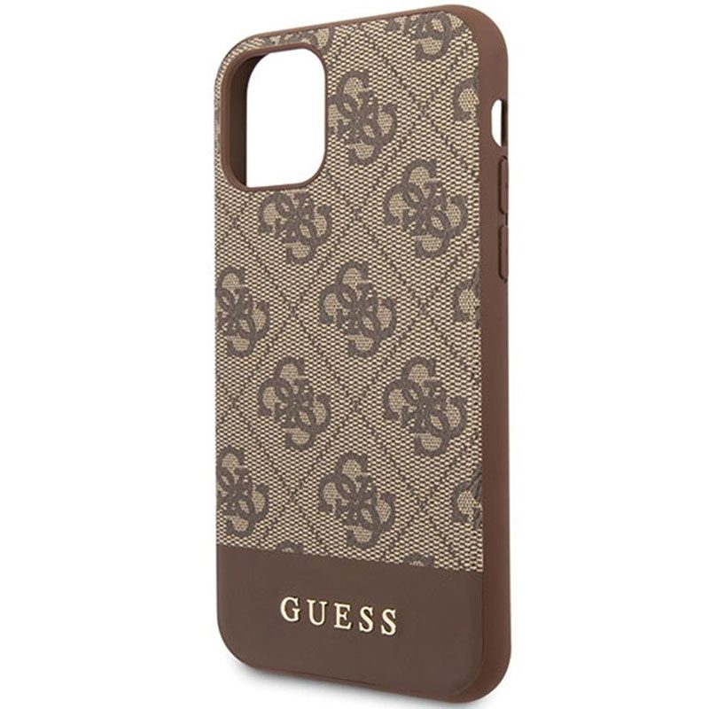 Guess 4G Stripe Brown Coque iPhone 11