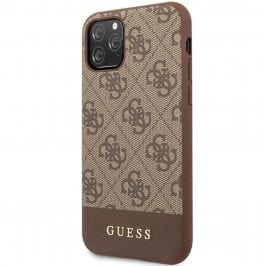 Guess 4G Stripe Brown Coque iPhone 11 Pro