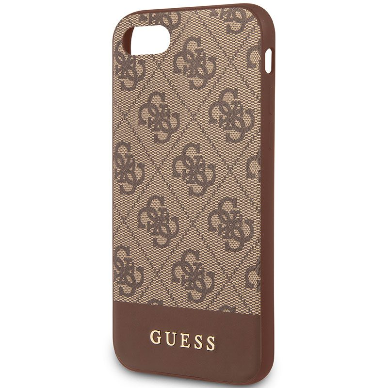Guess 4G Stripe Brown Coque iPhone 8/7/SE 2 2020