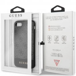 Guess 4G Stripe Grey  Coque iPhone 8/7/SE 2 2020
