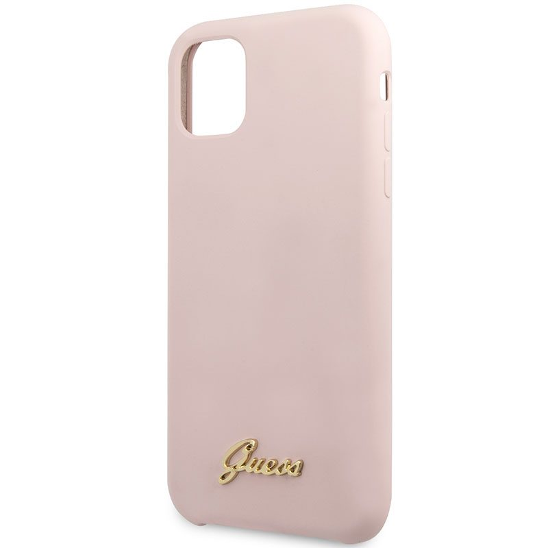 Guess Silicone Vintage Pink Coque iPhone 11