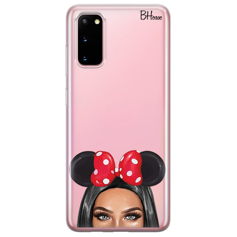 Black Haired Girl With Ribbon Coque Samsung S20