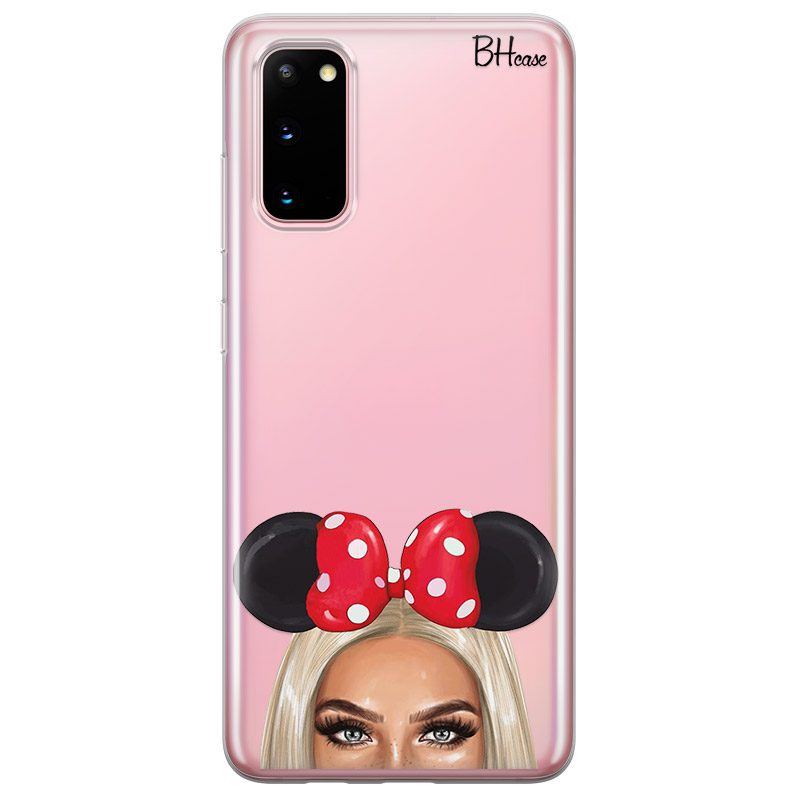Blonde Girl With Ribbon Coque Samsung S20