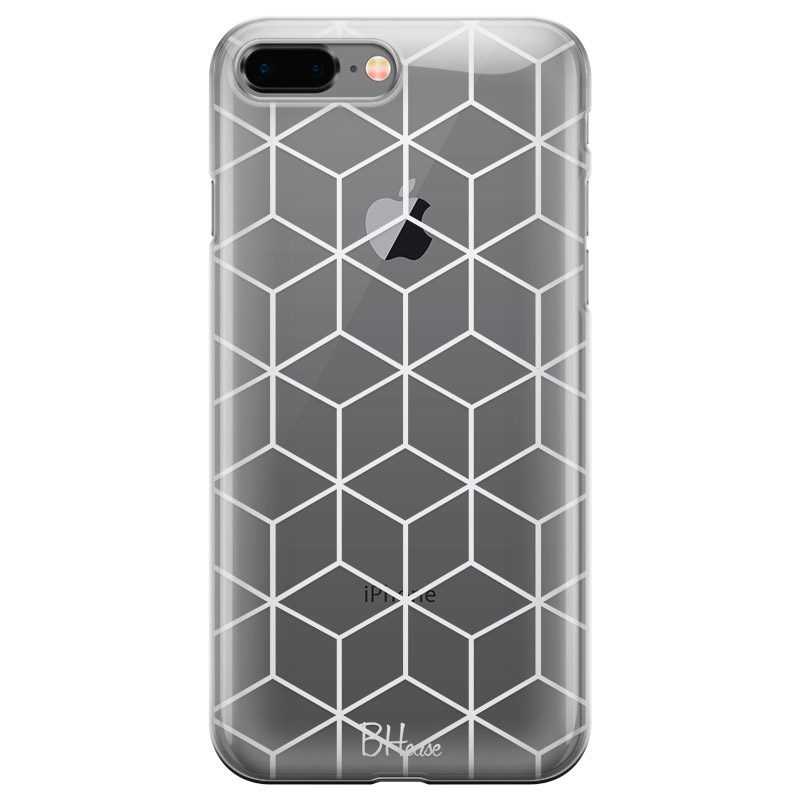 Cubic Grid Coque iPhone 7 Plus/8 Plus