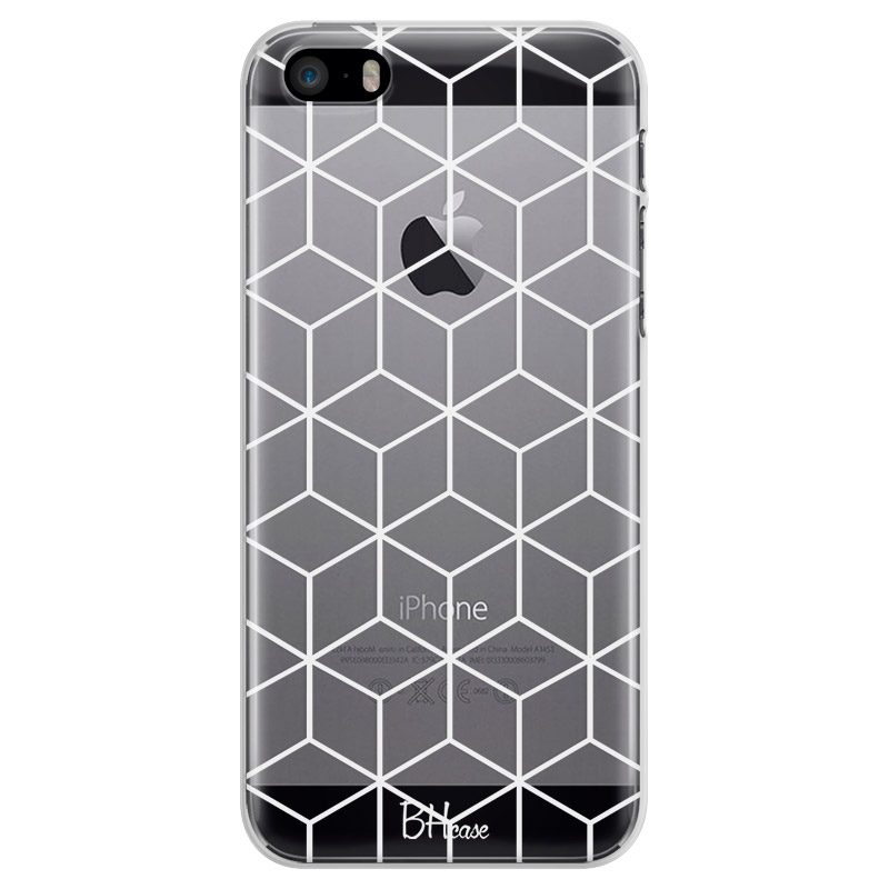 Cubic Grid Coque iPhone SE/5S