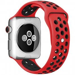 Sport Bracelet Apple Watch 42/44mm Red/Black Small