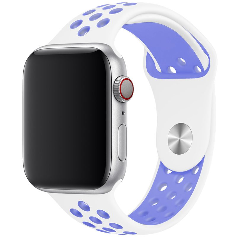 Sport Bracelet Apple Watch 42/44mm White/Lavender Large