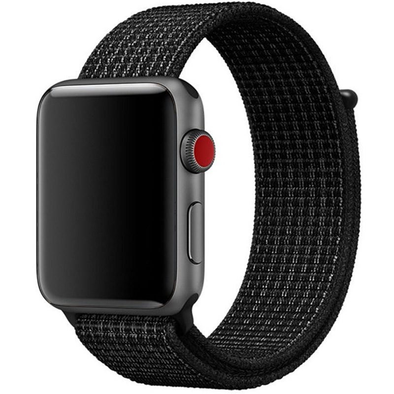 Nylon Bracelet Apple Watch 42/44mm Black White
