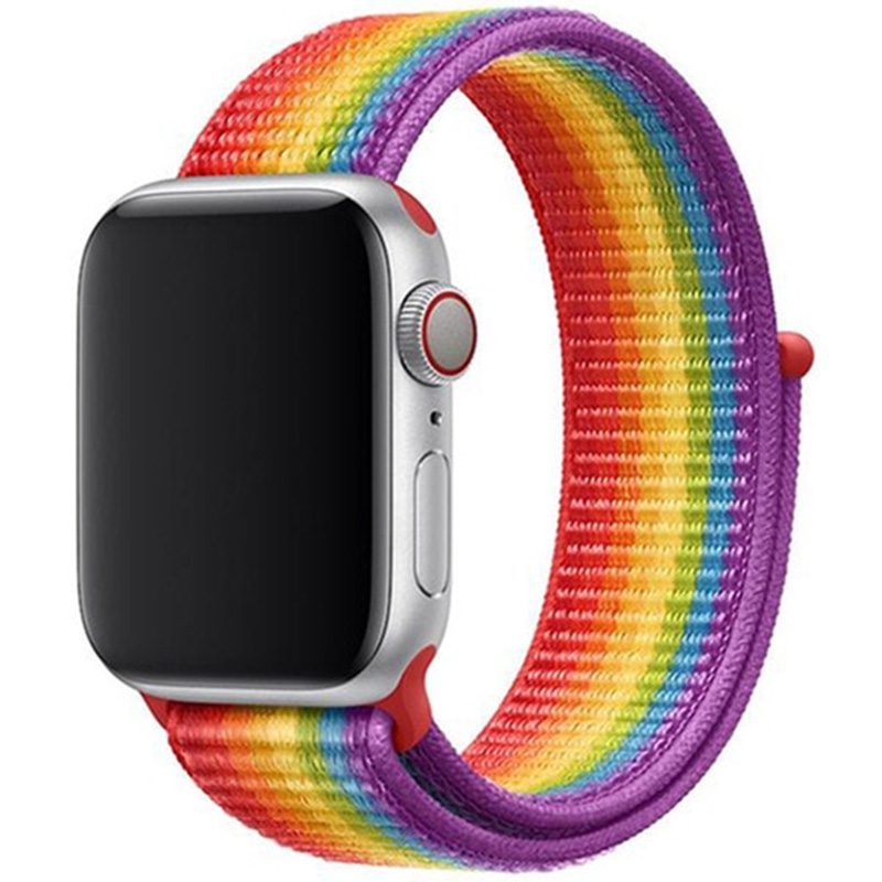 Nylon Bracelet Apple Watch 42/44mm Rainbow