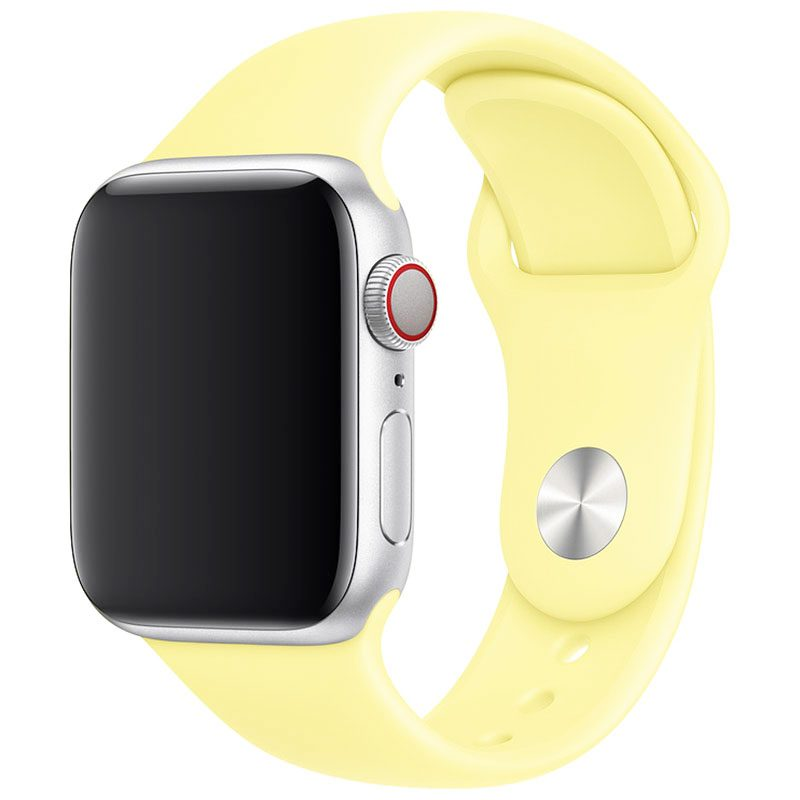 Silicone Bracelet Apple Watch 42/44mm Lemon Cream Large