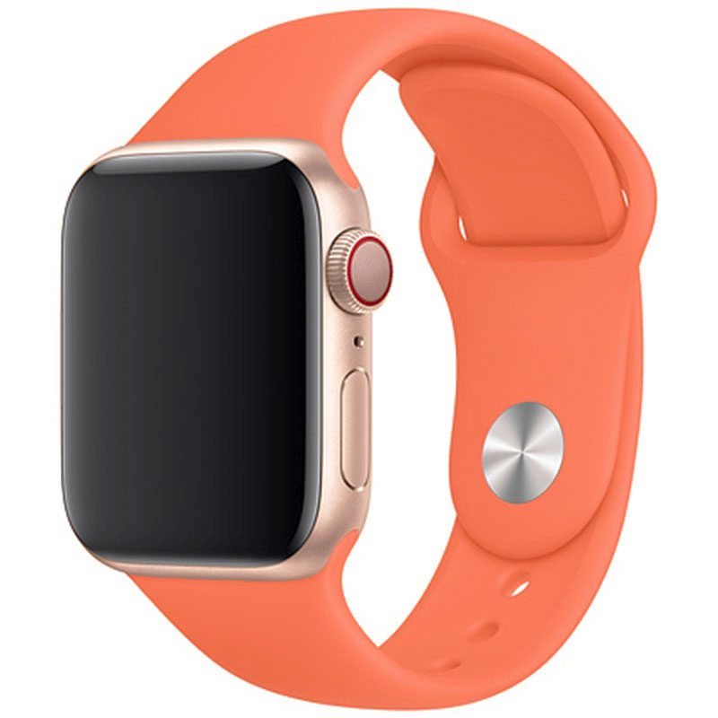 Silicone Bracelet Apple Watch 42/44mm Peach Large