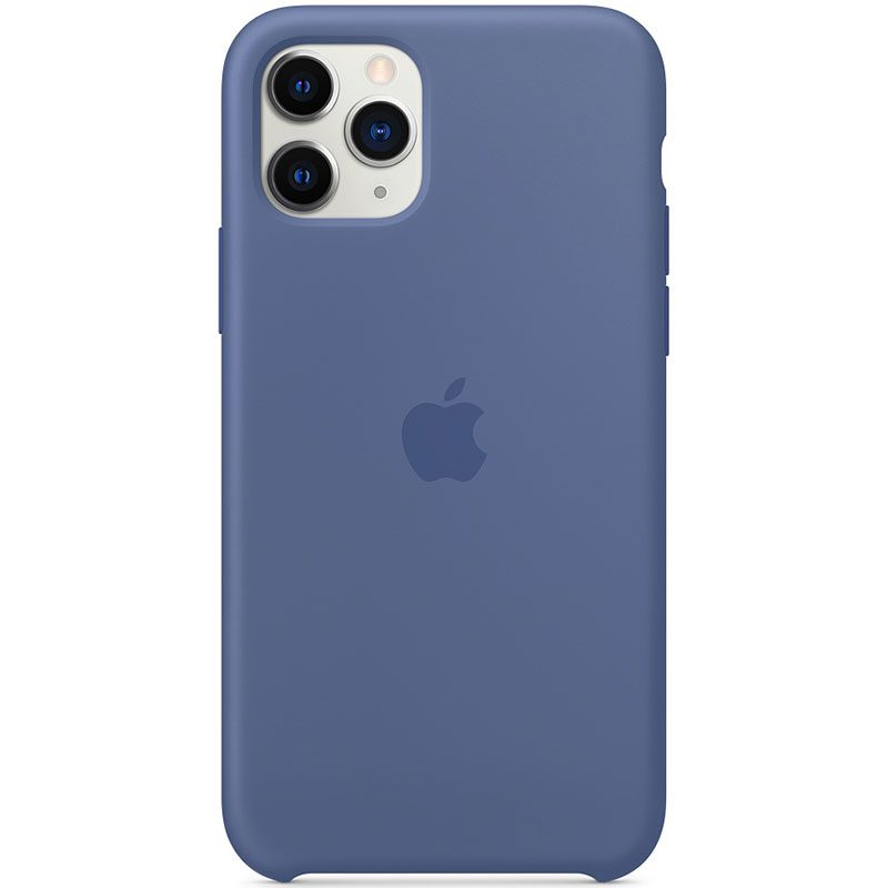 Apple Linen Blue Silicone Coque iPhone 11 Pro