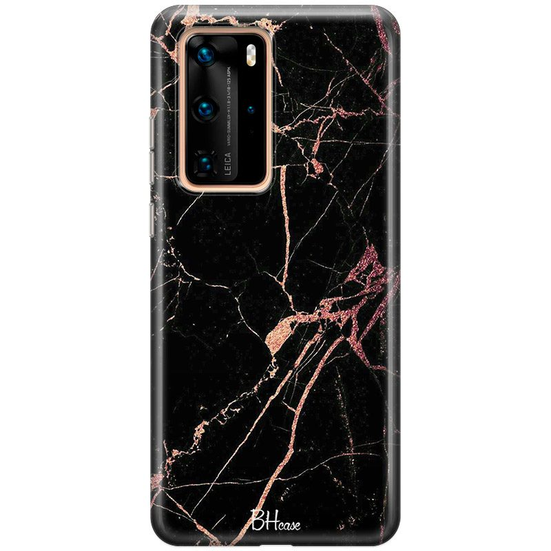 Black Rose Marble Coque Huawei P40 Pro
