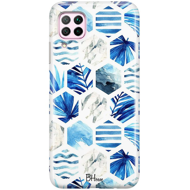 Blue Design Coque Huawei P40 Lite