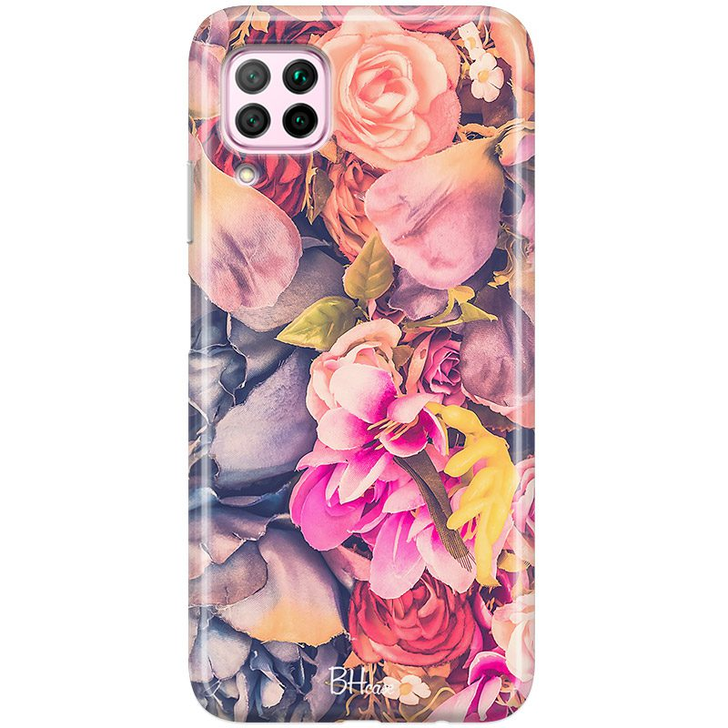 Colorful Flowers Coque Huawei P40 Lite