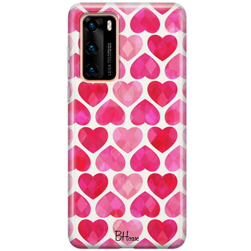 Hearts Pink Coque Huawei P40