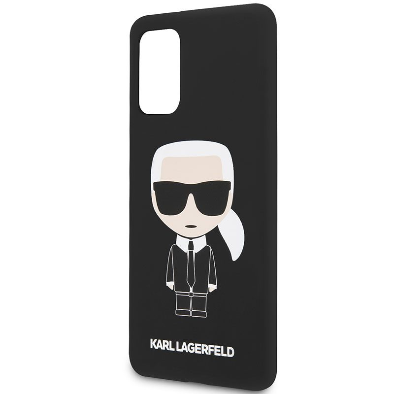 Karl Lagerfeld Iconic Full Body Silicone Black Coque Samsung S20 Plus