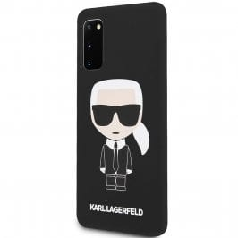 Karl Lagerfeld Iconic Full Body Silicone Black Coque Samsung S20