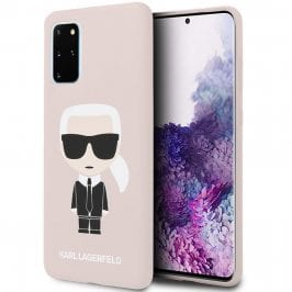Karl Lagerfeld Iconic Full Body Silicone Pink Coque Samsung S20 Plus