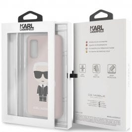 Karl Lagerfeld Iconic Full Body Silicone Pink Coque Samsung S20